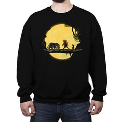 Lion Pooh - Crew Neck Sweatshirt - Crew Neck Sweatshirt - RIPT Apparel