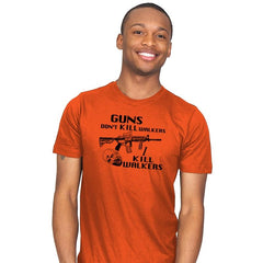 Guns Don't Kill Walkers - Mens - T-Shirts - RIPT Apparel