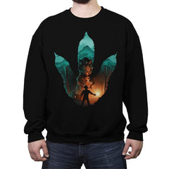 Jurassic Footprint - Crew Neck Sweatshirt - Crew Neck Sweatshirt - RIPT Apparel