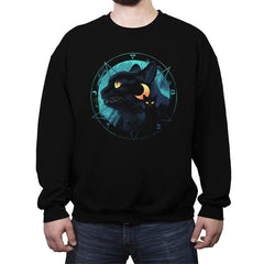 Puss the Evil Cat - Crew Neck Sweatshirt - Crew Neck Sweatshirt - RIPT Apparel