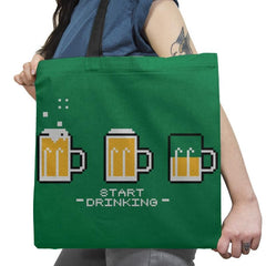 Start Drinking Exclusive - Tote Bag - Tote Bag - RIPT Apparel