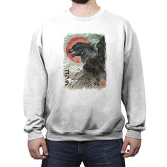 Kaiju-e - Crew Neck Sweatshirt - Crew Neck Sweatshirt - RIPT Apparel