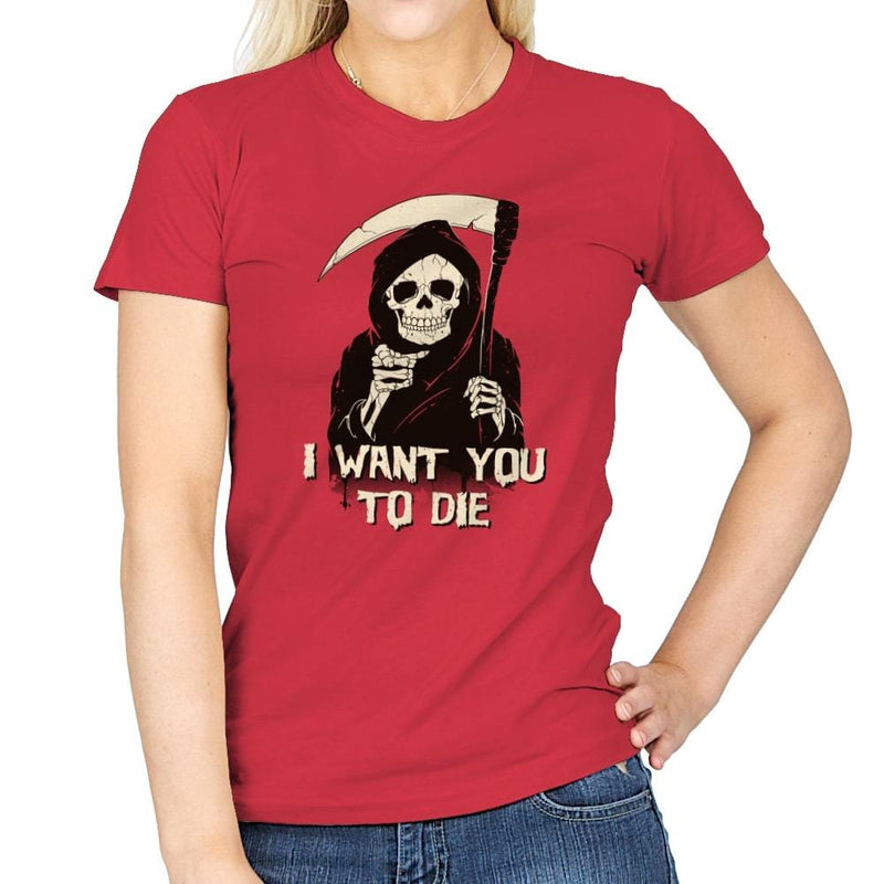 Death Chose You! - Anytime - Womens - T-Shirts - RIPT Apparel