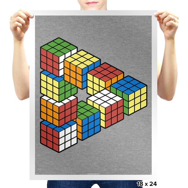 Magic Puzzle Cube Exclusive - Prints - Posters - RIPT Apparel