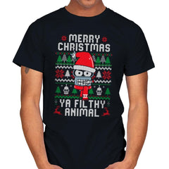 Merry Christmas Ya Filthy Animal - Mens - T-Shirts - RIPT Apparel