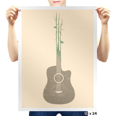 Natures Guitar Exclusive - Prints - Posters - RIPT Apparel