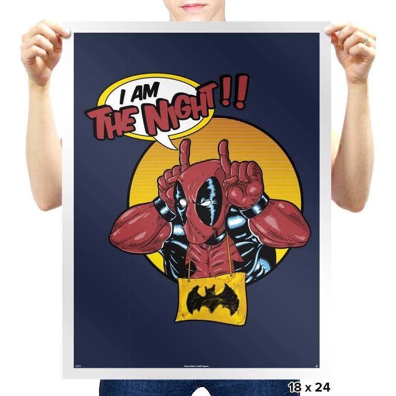 I'M THE NIGHT Reprint - Prints - Posters - RIPT Apparel
