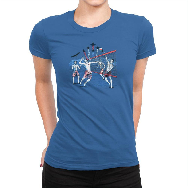 American Beach Volleyball Exclusive - Star-Spangled - Womens Premium - T-Shirts - RIPT Apparel