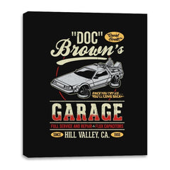 Doc Brown's Garage - Canvas Wraps - Canvas Wraps - RIPT Apparel