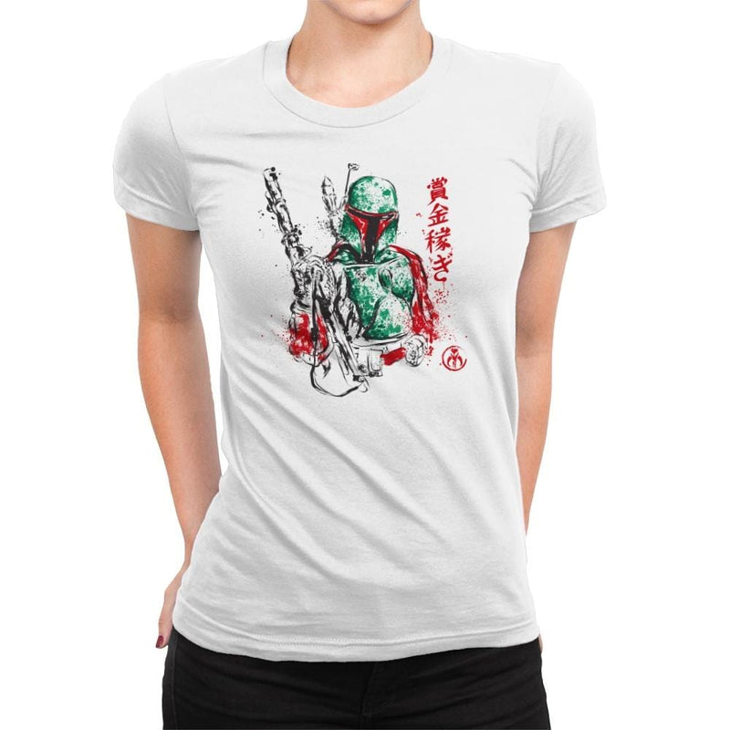 Bounty Hunter - Sumi Ink Wars - Womens Premium - T-Shirts - RIPT Apparel