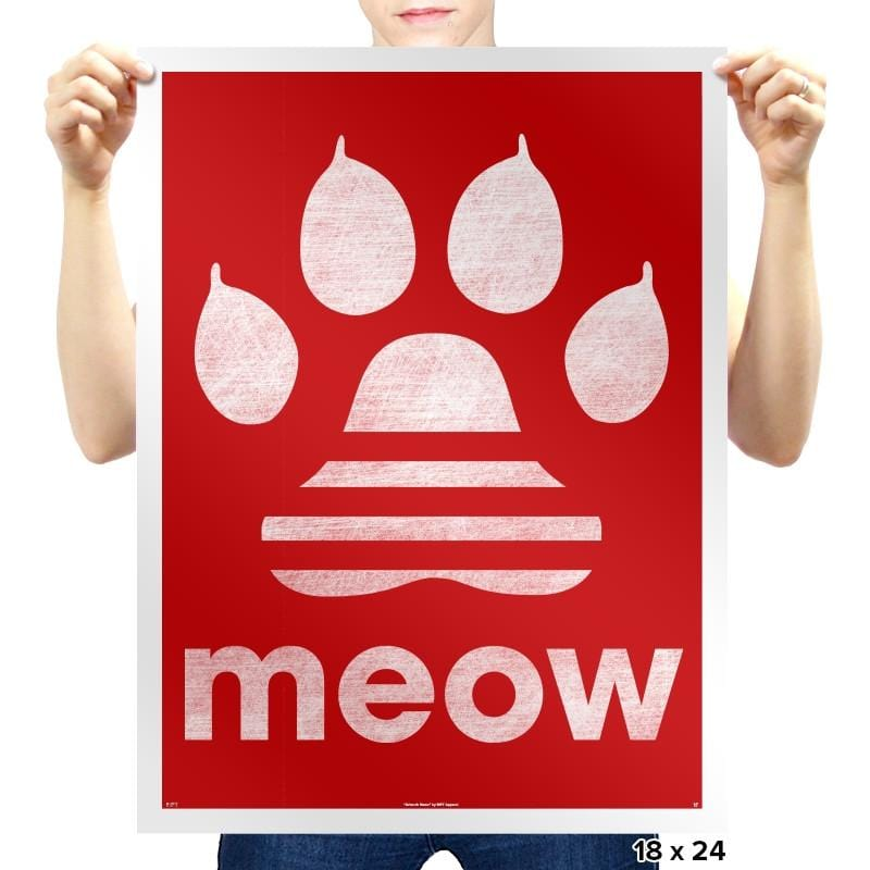 Meow Classic - Prints - Posters - RIPT Apparel