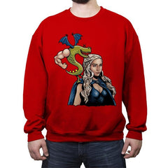 Burninating and Blood - Crew Neck Sweatshirt - Crew Neck Sweatshirt - RIPT Apparel