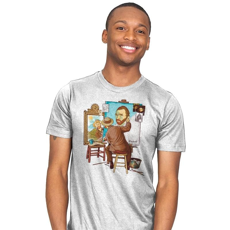 Van Gogh Triple Portrait - Pop Impressionism - Mens - T-Shirts - RIPT Apparel