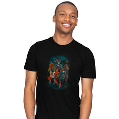 The Walking Caped Crusaders Reprint - Mens - T-Shirts - RIPT Apparel