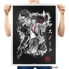 God of the New World - Sumi Ink Wars - Prints - Posters - RIPT Apparel