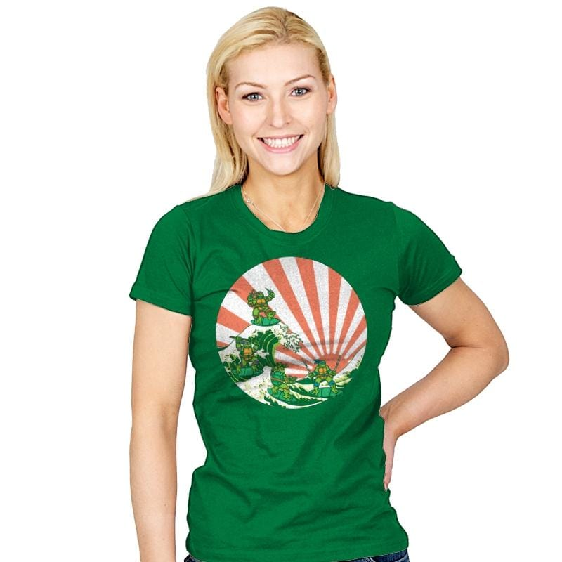 The Great Wave Off Cowabunga - Womens - T-Shirts - RIPT Apparel