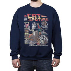 Cat to the Future - Crew Neck Sweatshirt - Crew Neck Sweatshirt - RIPT Apparel