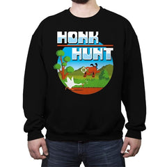 Honk Hunt - Crew Neck Sweatshirt - Crew Neck Sweatshirt - RIPT Apparel