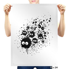 Susuwatari Ink - Sumi Ink Wars - Prints - Posters - RIPT Apparel