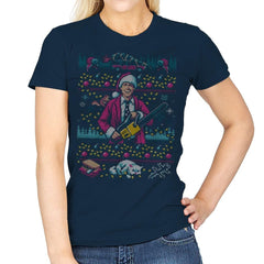 Hap, Hap, Happiest Sweater this Side of the Nuthouse - Ugly Holiday - Womens - T-Shirts - RIPT Apparel