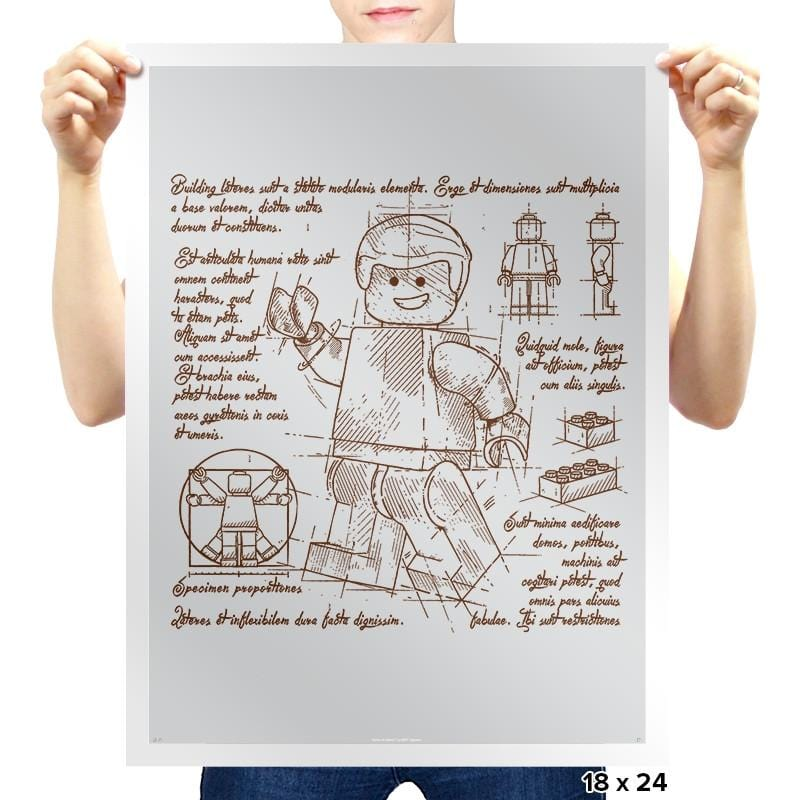 Minifigure Plan Exclusive - Brick Tees - Prints - Posters - RIPT Apparel