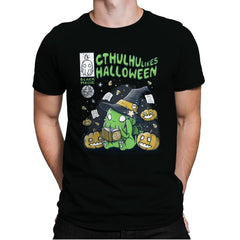 Cthulhu Likes Halloween - Anytime - Mens Premium - T-Shirts - RIPT Apparel