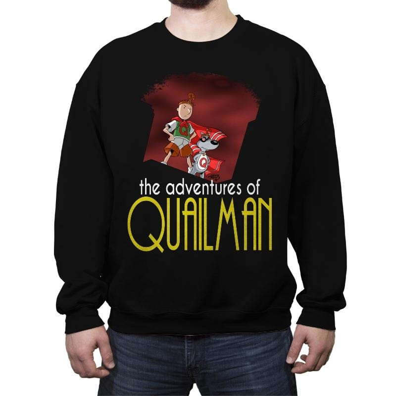 Adventures of Quailman - Crew Neck Sweatshirt - Crew Neck Sweatshirt - RIPT Apparel