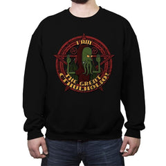 The Great Cthulholio - Crew Neck Sweatshirt - Crew Neck Sweatshirt - RIPT Apparel