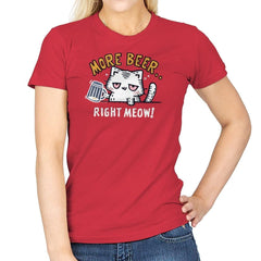 Beer Right Meow - Womens - T-Shirts - RIPT Apparel
