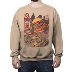BurgerZilla - Crew Neck Sweatshirt - Crew Neck Sweatshirt - RIPT Apparel
