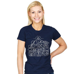 Old Hyrule - Womens - T-Shirts - RIPT Apparel