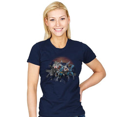 Villains Atop A Skyscraper - Womens - T-Shirts - RIPT Apparel
