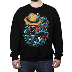 Colorful Pirate - Crew Neck Sweatshirt - Crew Neck Sweatshirt - RIPT Apparel