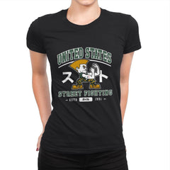 USA Street Fighting - Womens Premium - T-Shirts - RIPT Apparel