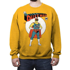 Duffman! - Crew Neck Sweatshirt - Crew Neck Sweatshirt - RIPT Apparel