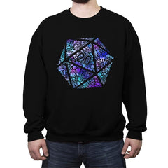 Mosaic D20 - Crew Neck Sweatshirt - Crew Neck Sweatshirt - RIPT Apparel