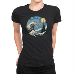 The Great Starry Wave - Womens Premium - T-Shirts - RIPT Apparel
