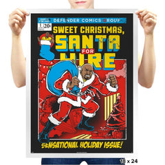 Santa For Hire - Prints - Posters - RIPT Apparel