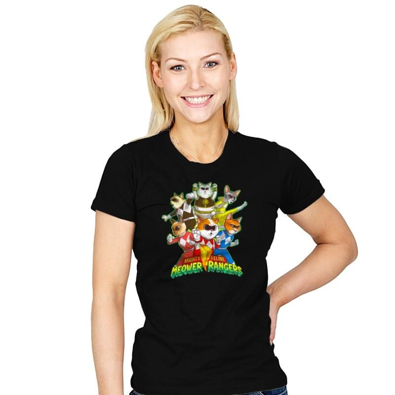 Meower Rangers - Womens - T-Shirts - RIPT Apparel