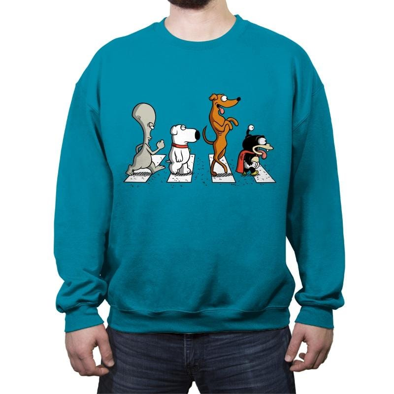 Pets on Abbey Road - Crew Neck Sweatshirt - Crew Neck Sweatshirt - RIPT Apparel