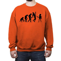 Evolution Hack - Crew Neck Sweatshirt - Crew Neck Sweatshirt - RIPT Apparel