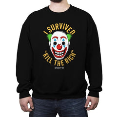 Kill The Rich Survivor - Crew Neck Sweatshirt - Crew Neck Sweatshirt - RIPT Apparel