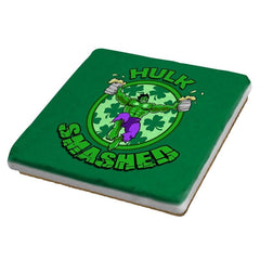 Hulk Smashed Exclusive - St Paddys Day - Coasters - Coasters - RIPT Apparel