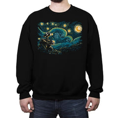 Starry Robot - Crew Neck Sweatshirt - Crew Neck Sweatshirt - RIPT Apparel