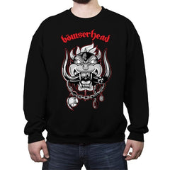 Bowserhead - Crew Neck Sweatshirt - Crew Neck Sweatshirt - RIPT Apparel