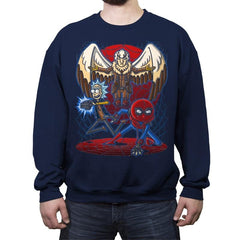 Spidermorty - Crew Neck Sweatshirt - Crew Neck Sweatshirt - RIPT Apparel