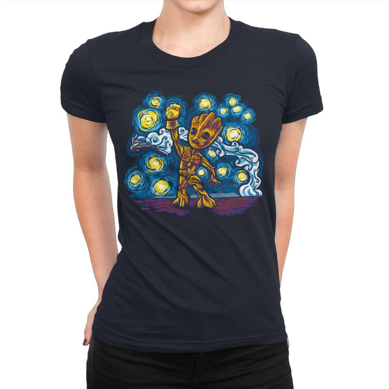 Starry Groot Exclusive - Womens Premium - T-Shirts - RIPT Apparel