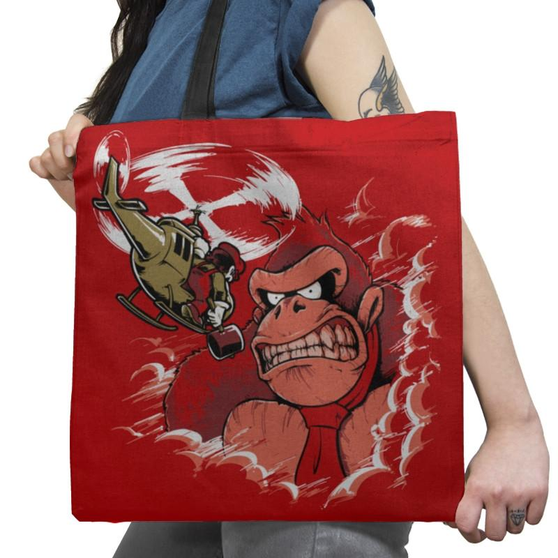 Donkey King: Skull Island Exclusive - Tote Bag - Tote Bag - RIPT Apparel