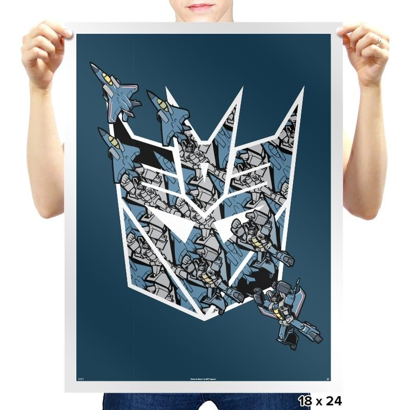Thunder Tessellation  - 80s Blaarg - Prints - Posters - RIPT Apparel