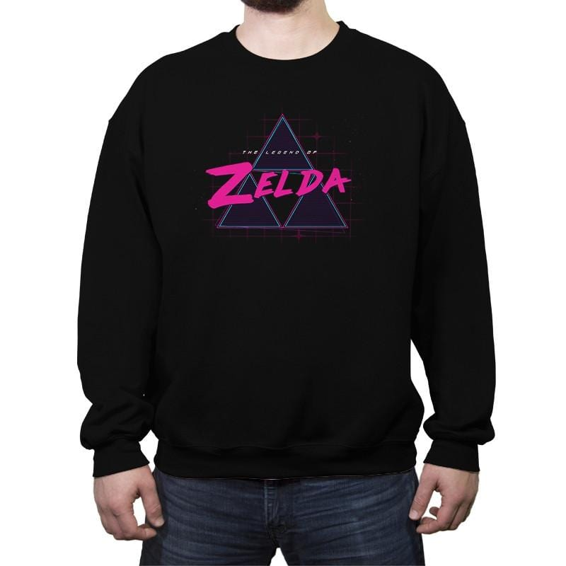 Zelda Synthwave - Crew Neck Sweatshirt - Crew Neck Sweatshirt - RIPT Apparel
